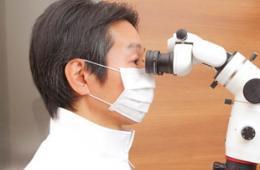 歯科用顕微鏡(マイクロスコープ)使用時のイメージ